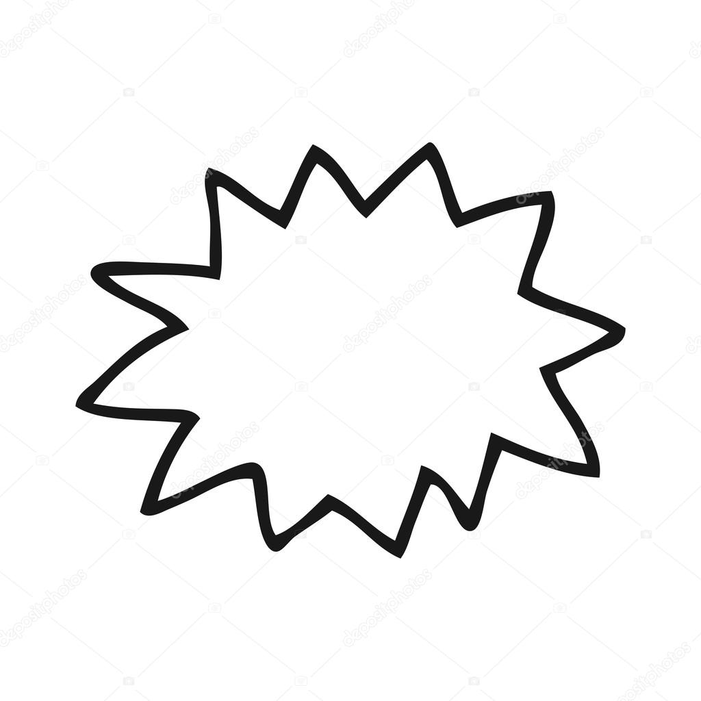 Black And White Cartoon Explosion Stock Vector C Lineartestpilot