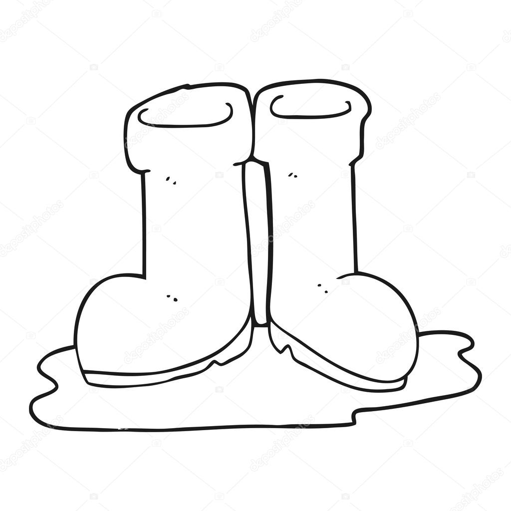 Mano derecha animada para colorear | botas wellington de