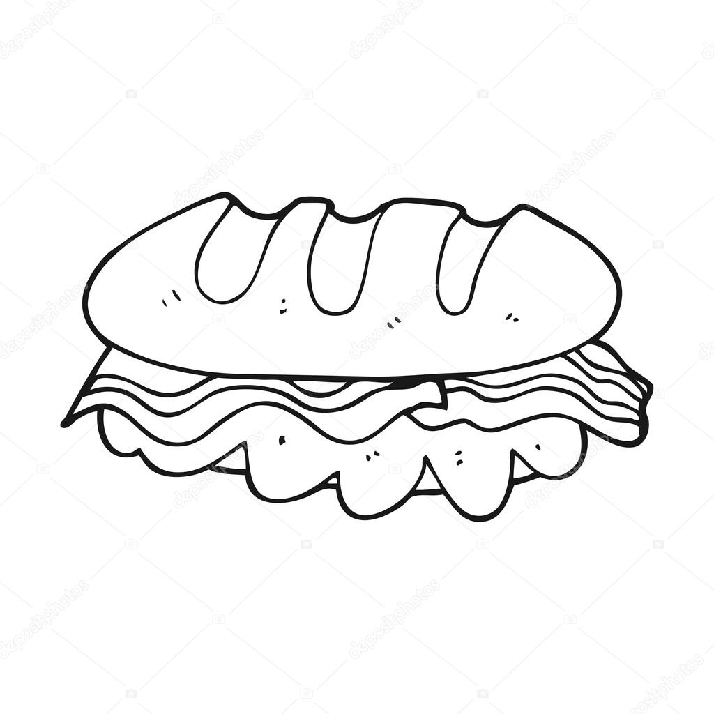 sandwich cartoon black and white black and white cartoon huge sandwich stock vector c lineartestpilot 101463610 https depositphotos com 101463610 stock illustration black and white cartoon huge html