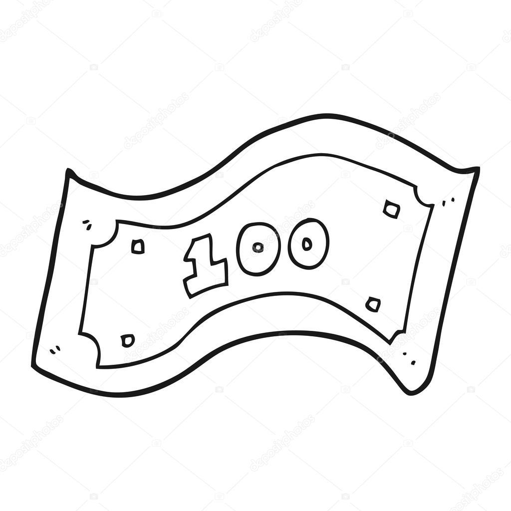 Animado Billetes Para Colorear Billete De 100 Dólares De