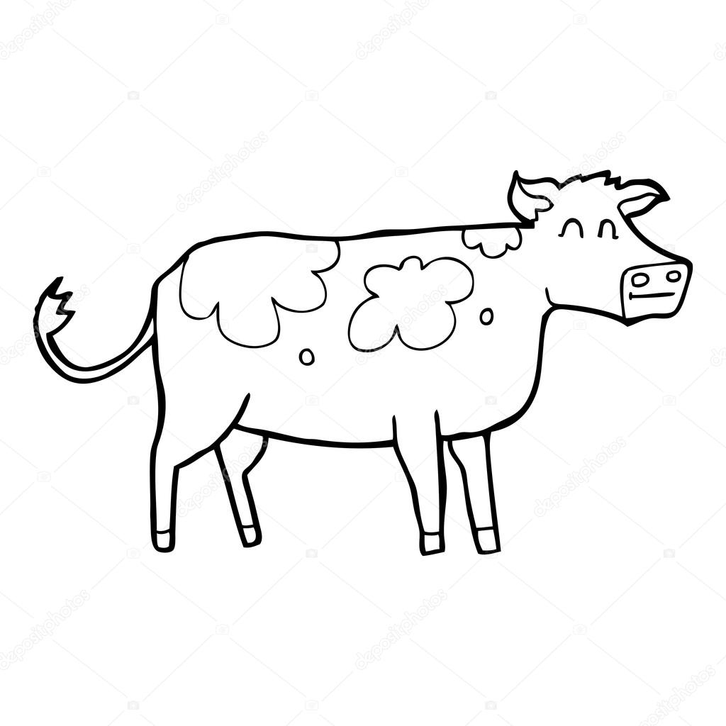 Clipart Cow Black And White Black And White Cartoon Cow