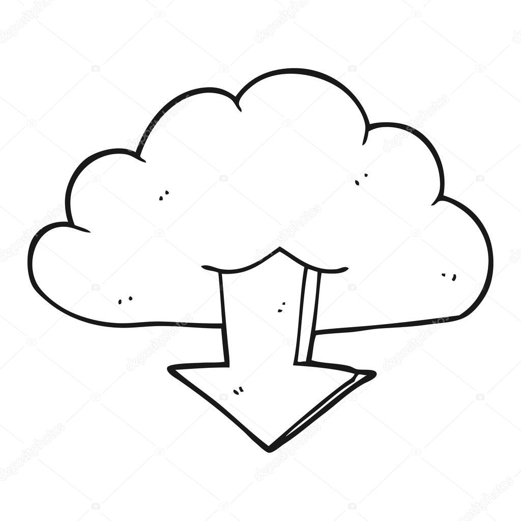 schwarz-weiss Cartoons herunterladen aus der Wolke — Stockvektor ...