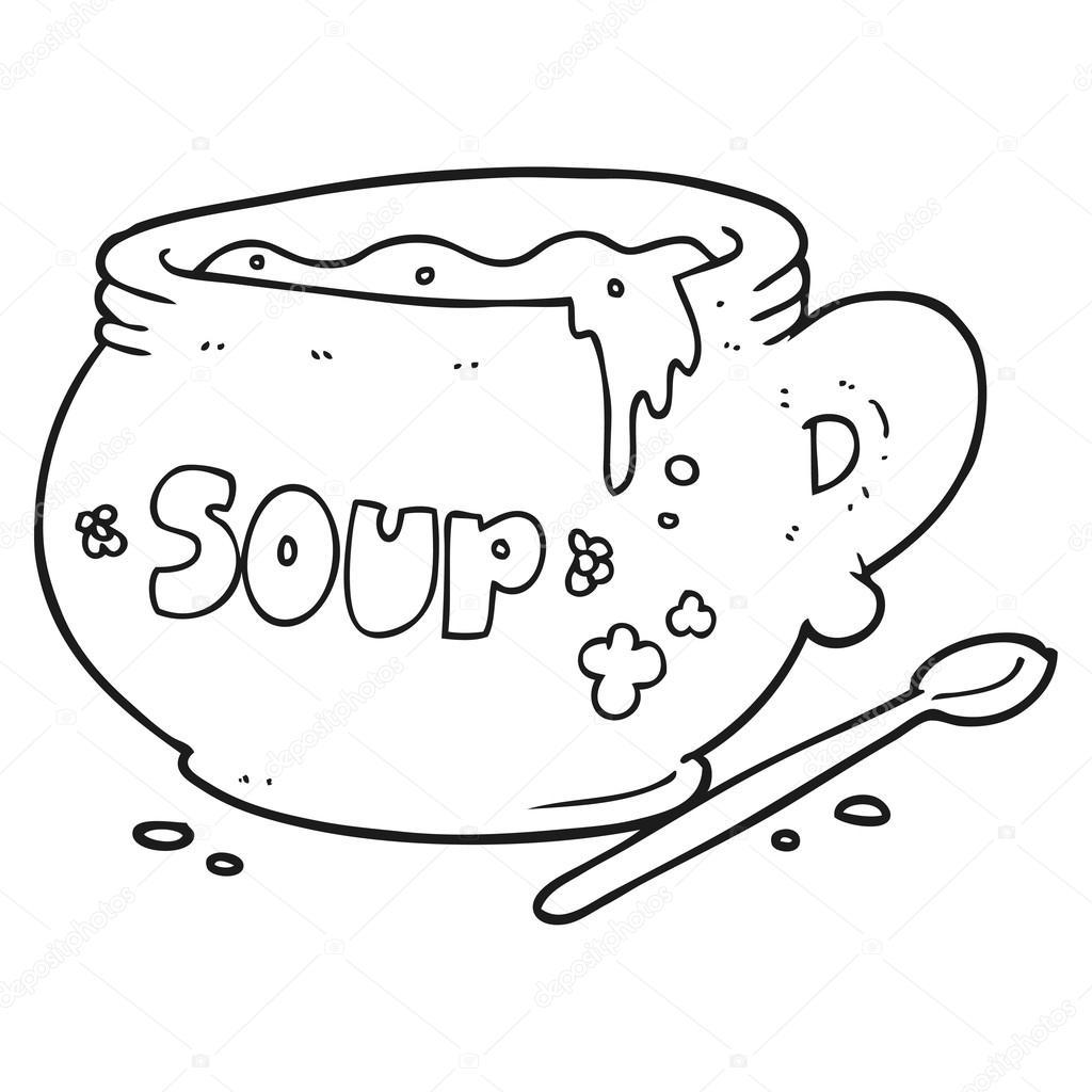 dibujo de sopa para colorear