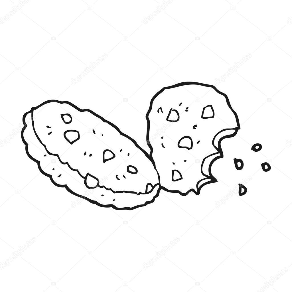 galletas blanco y negro de dibujos animados — Archivo Imágenes ...
