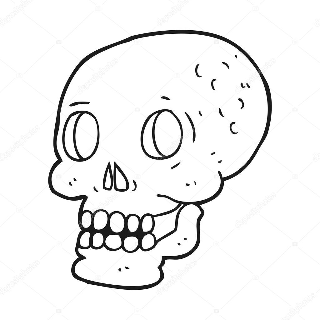 Huesos Del Craneo Humano Para Colorear Blanco Y Negro Dibujos