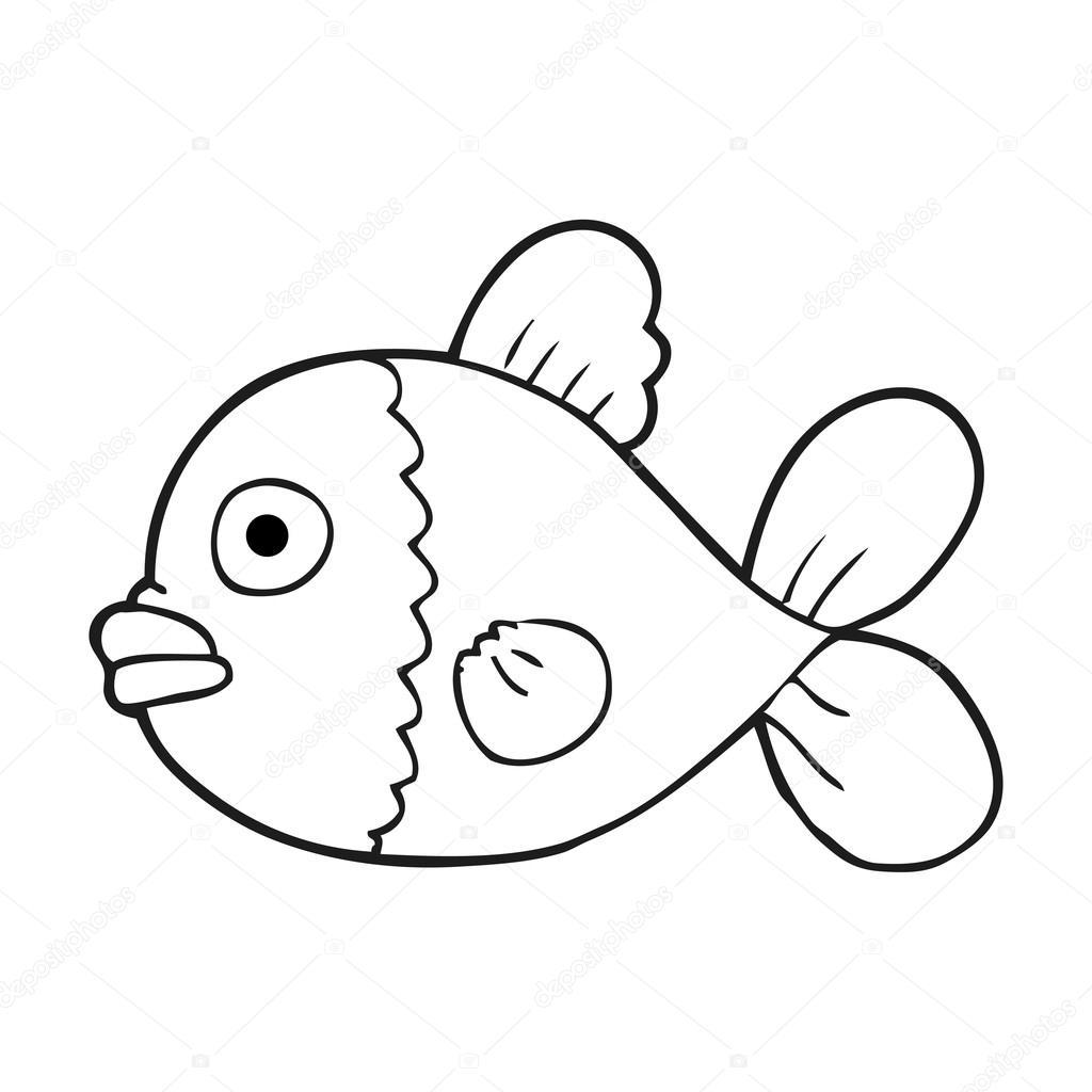 Peces En Blanco Y Negro Para Dibujar Pescado Blanco Y Negro De
