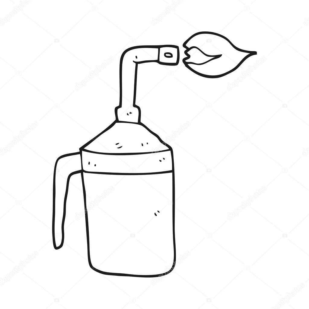 soplete de dibujos animados blanco y negro — Vector de stock ...
