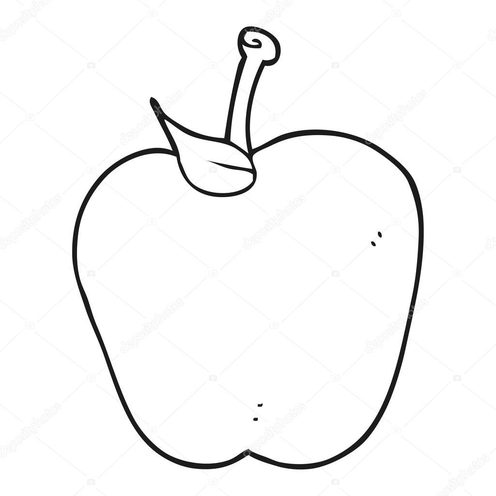 Ma de preto e branco dos desenhos animados vetor de stock desenhado mo livre apple preto e branco dos desenhos animados vetor por lineartestpilot altavistaventures Choice Image