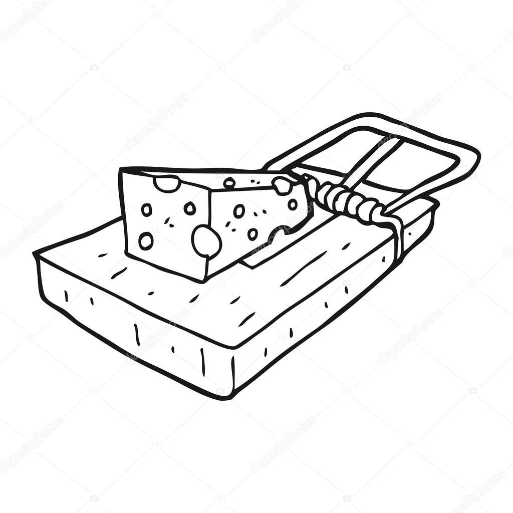 Trampa de rat n de dibujos animados blanco y negro vector de stock lineartestpilot 101474844 - Trampas para ratones de campo ...