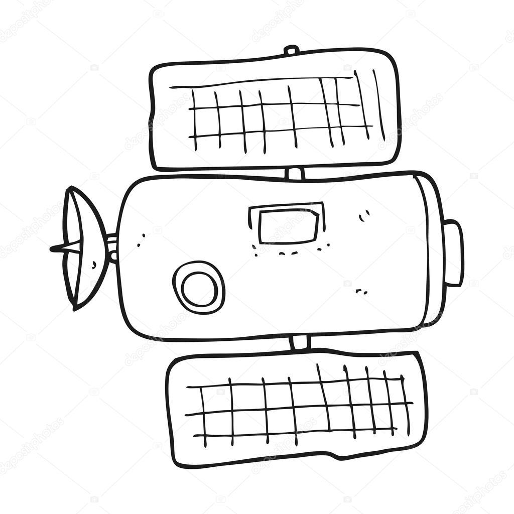 Kleurplaten Ruimtestation.Zwart Wit Cartoon Ruimtestation Stockvector C Lineartestpilot