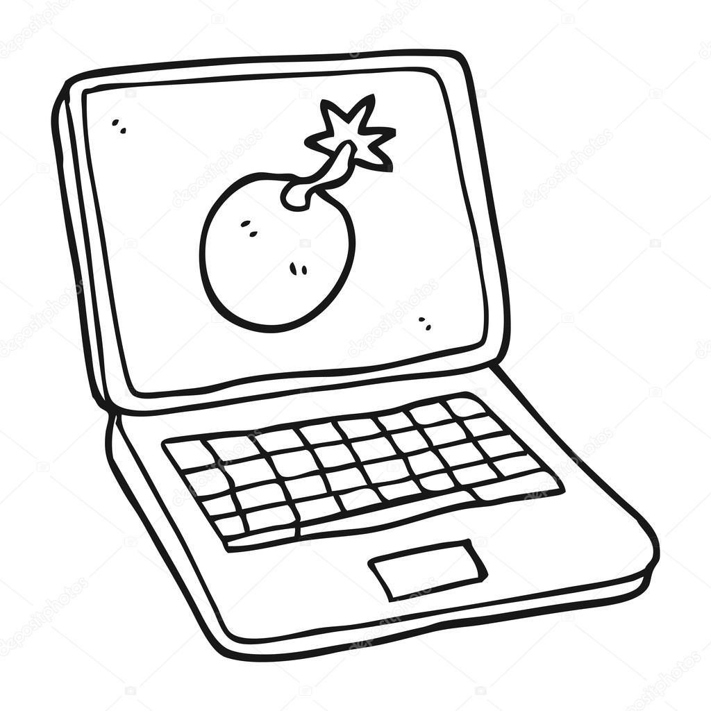 Dibujos Ordenadores Ordenador Portatil De Dibujos Animados Blanco