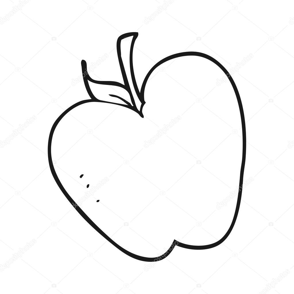 Ma de preto e branco dos desenhos animados vetores de stock desenhado mo livre apple preto e branco dos desenhos animados vetor de lineartestpilot altavistaventures Choice Image