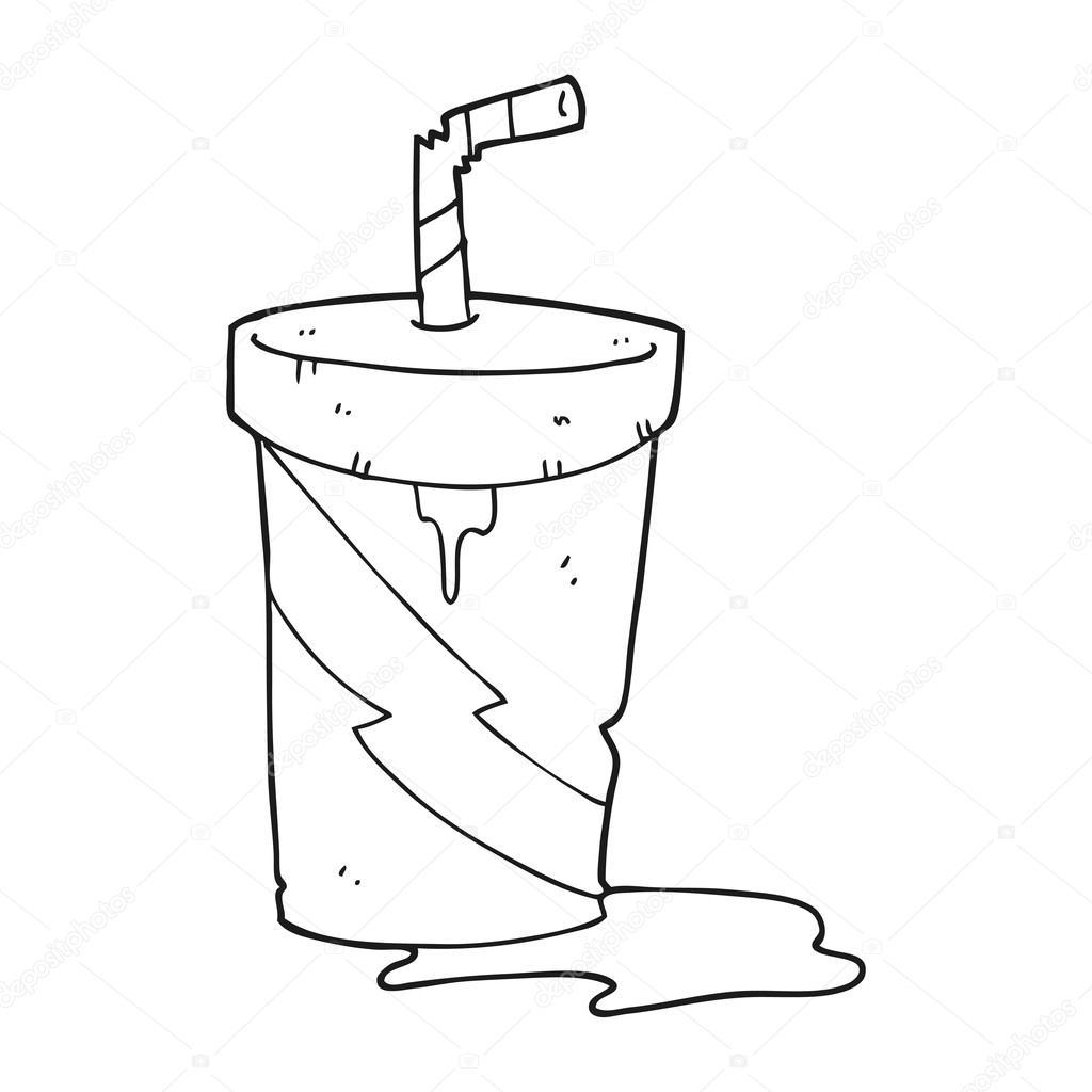 Imágenes De Comida Chatarra En Blanco Y Negro Refresco De Cola