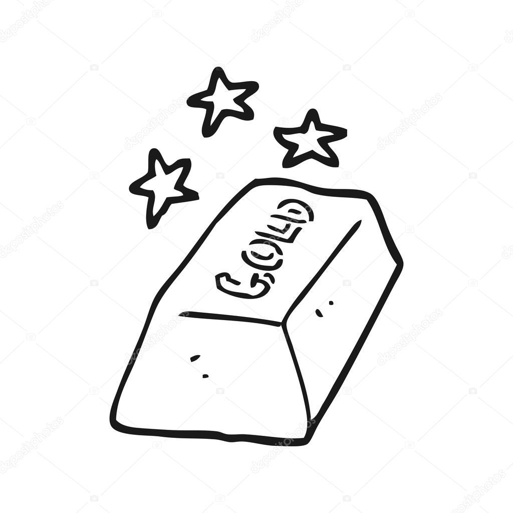 bar blanco y negro de dibujos animados de oro — Vector de stock ...