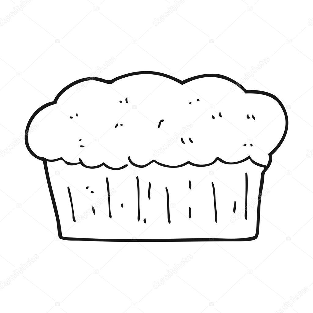 pan blanco y negro de dibujos animados — Vector de stock ...