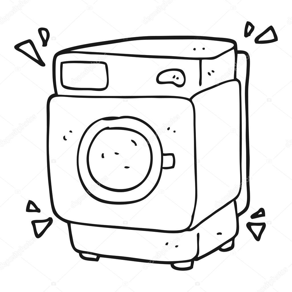 Imágenes Lavadora En Caricatura Dibujos Animados Blanco Y