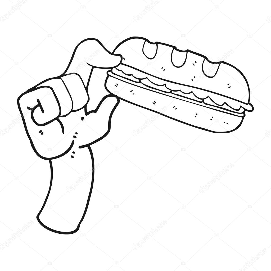 black and white cartoon sub sandwich stock vector c lineartestpilot 101506044 depositphotos