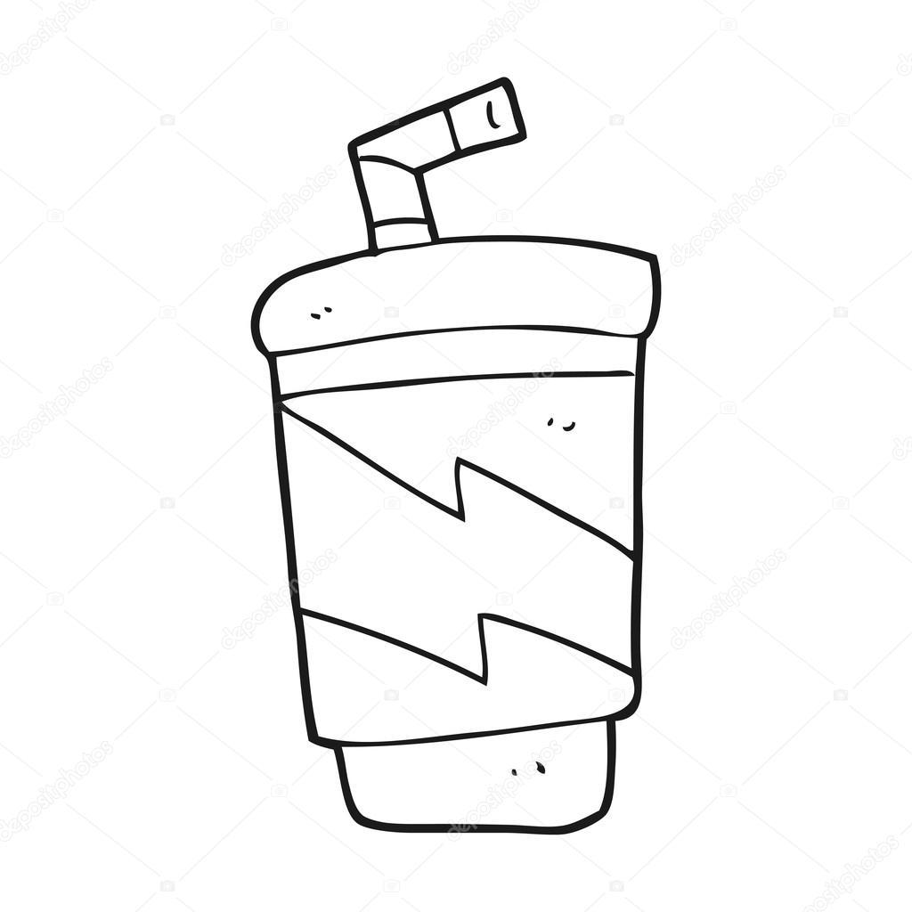 Imágenes Refresco Blanco Y Negro Bebida Gaseosa De Dibujos