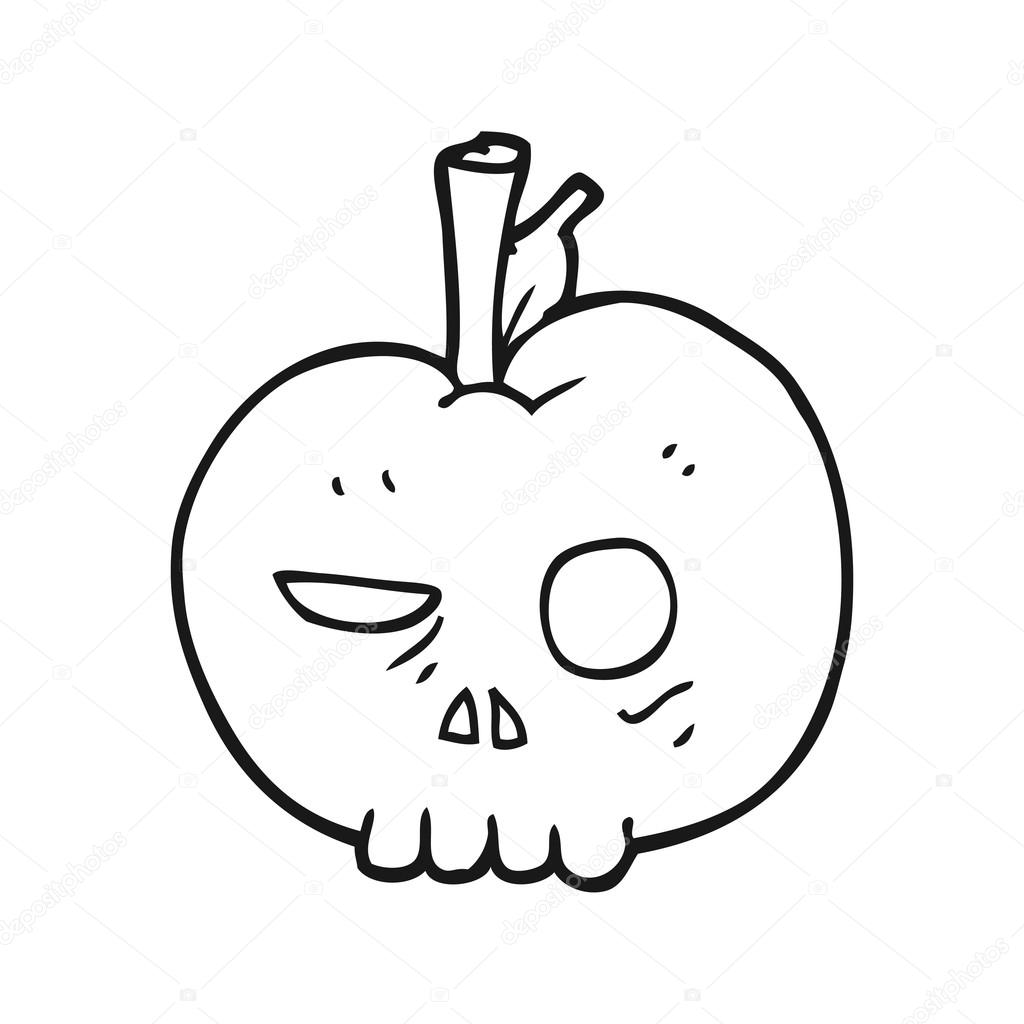 Veneno apple preto e branco dos desenhos animados vetor de stock veneno apple preto e branco dos desenhos animados vetor de stock thecheapjerseys Images