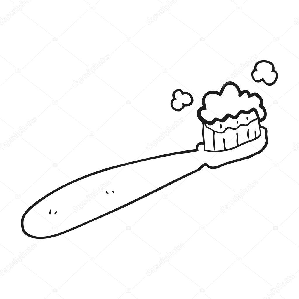 Animado Dientes Dibujados Cepillo De Dientes De Dibujos