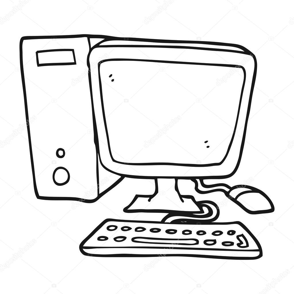 Imágenes Computadoras En Dibujo Computadora De Escritorio