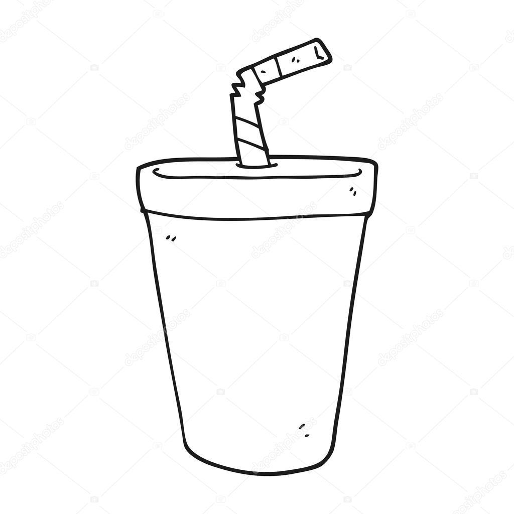 Imágenes Sodio Para Colorear Soda De Dibujos Animados Blanco Y
