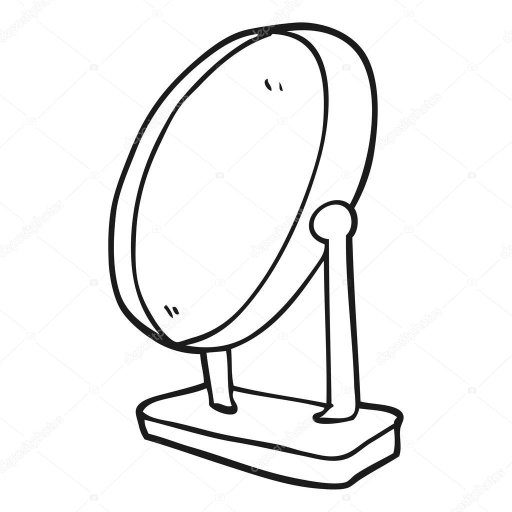 Zwart wit cartoon spiegel stockvector lineartestpilot for Spiegel cartoon