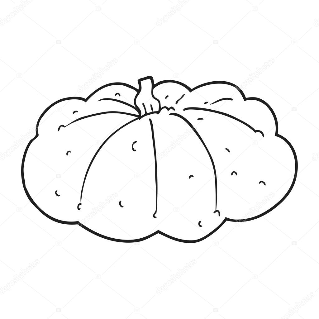 Black and white cartoon squash stock vector lineartestpilot 101509296 - Dessin courge ...