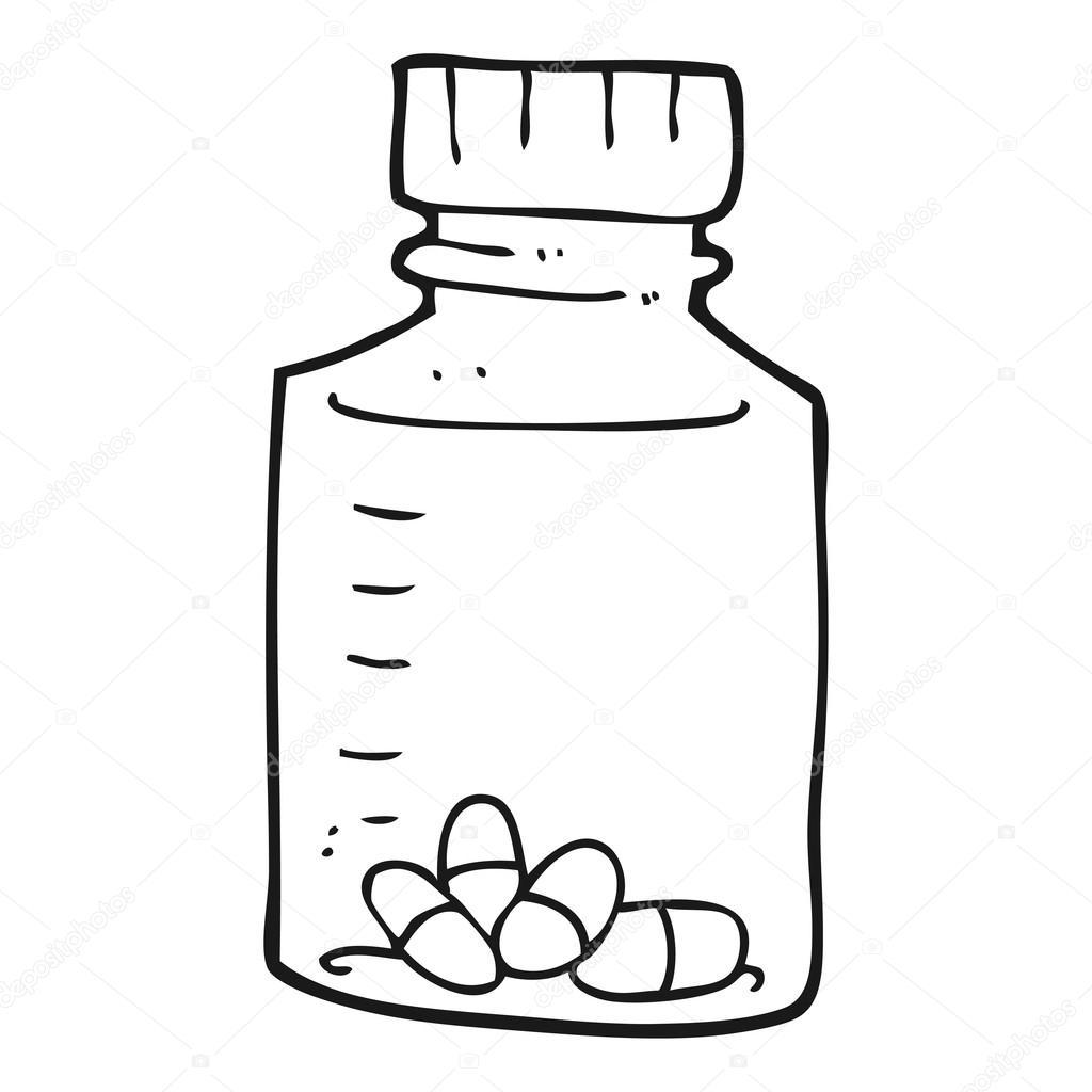 Dibujos: pastillas para colorear | tarro blanco y negro de dibujos