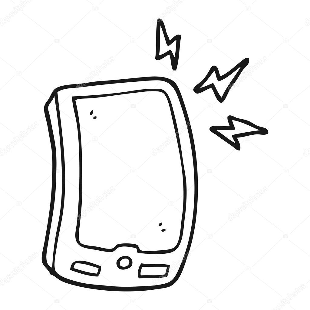Animado Telefono Celular Para Colorear Móvil De Dibujos Animados