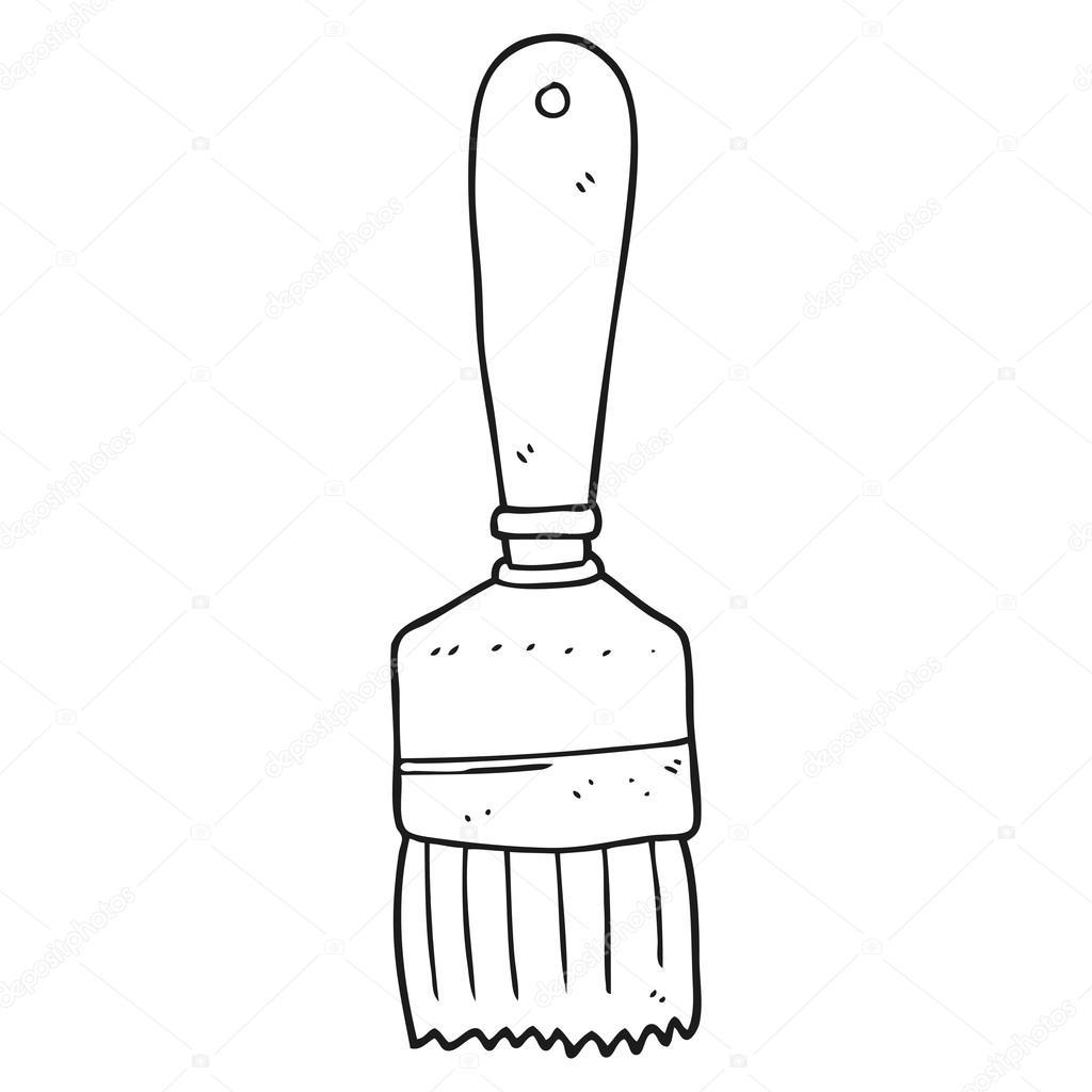 pennello di bianco e nero fumetto vettoriali stock