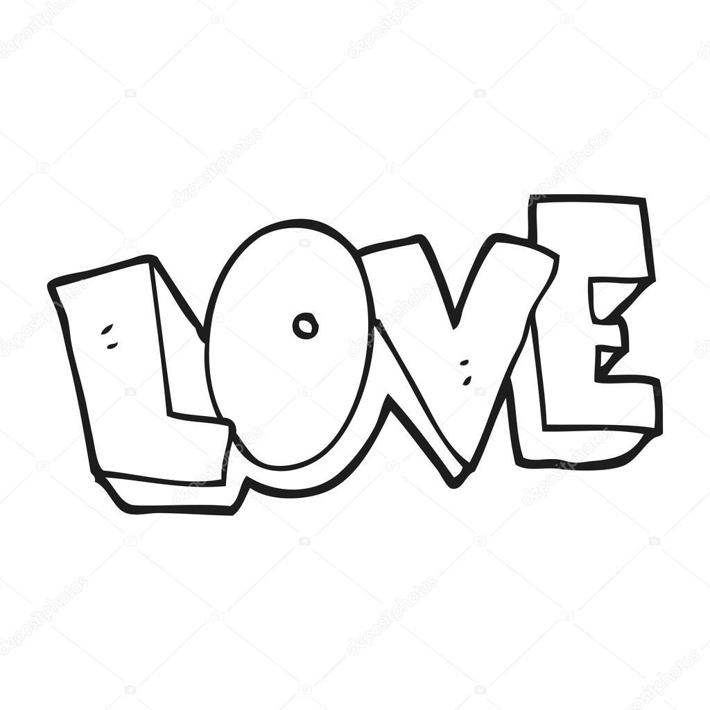 symbole d amour dessin anim noir et blanc image vectorielle lineartestpilot 101512540. Black Bedroom Furniture Sets. Home Design Ideas