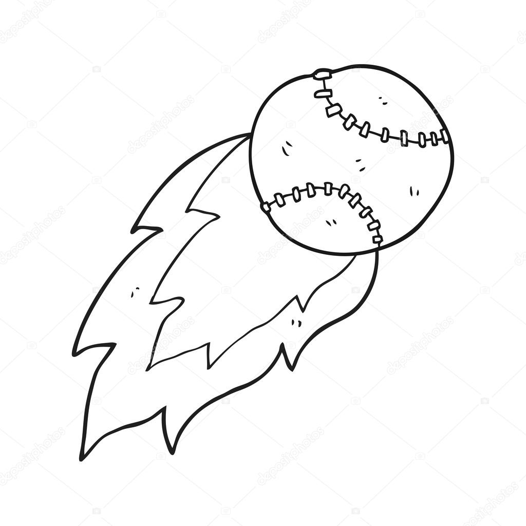 bola de los deportes dibujos animados blanco y negro — Vector de ...