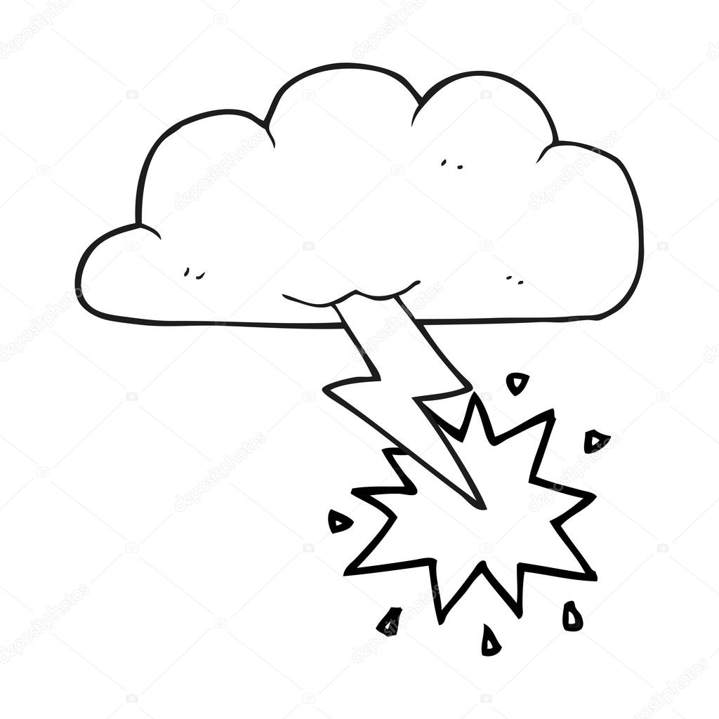 Imágenes: truenos y rayos para colorear | nube tormentosa