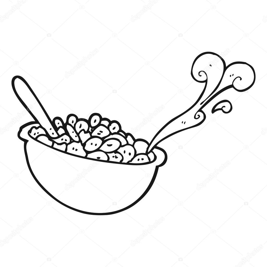 Tazon De Cereal Para Colorear Tazón Blanco Y Negro De Dibujos