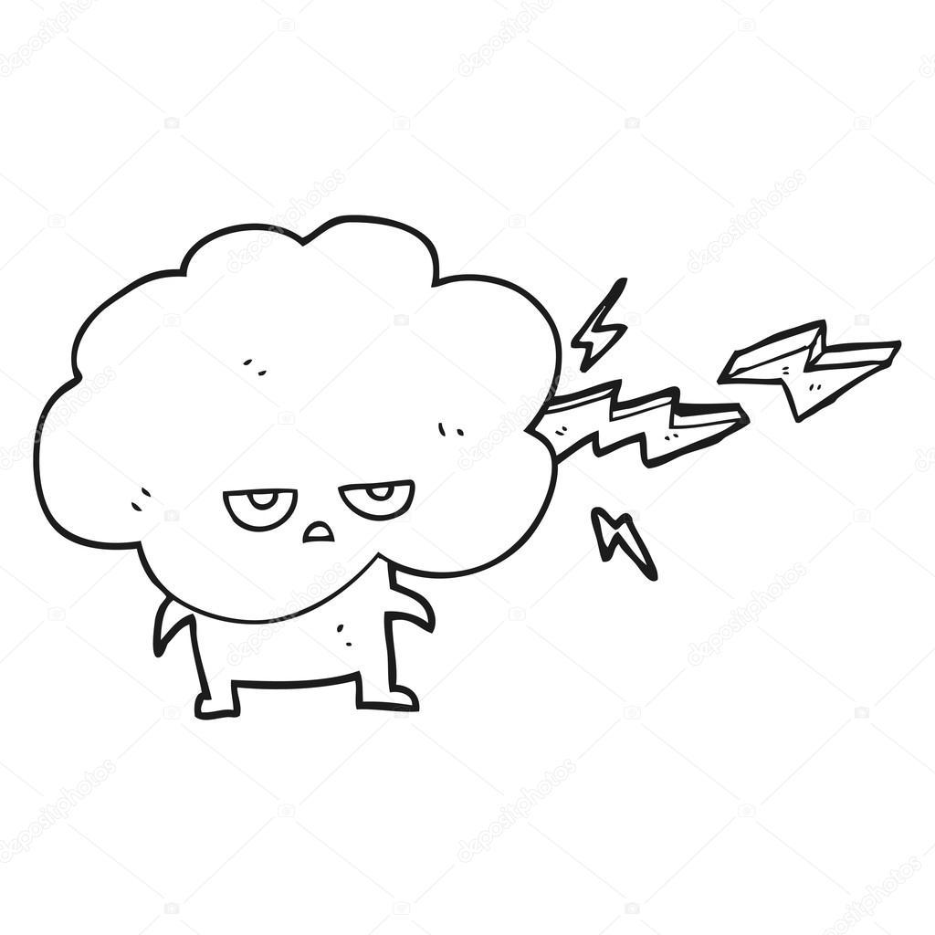 Imágenes Relampago Para Colorear Personaje De Nubes De Dibujos
