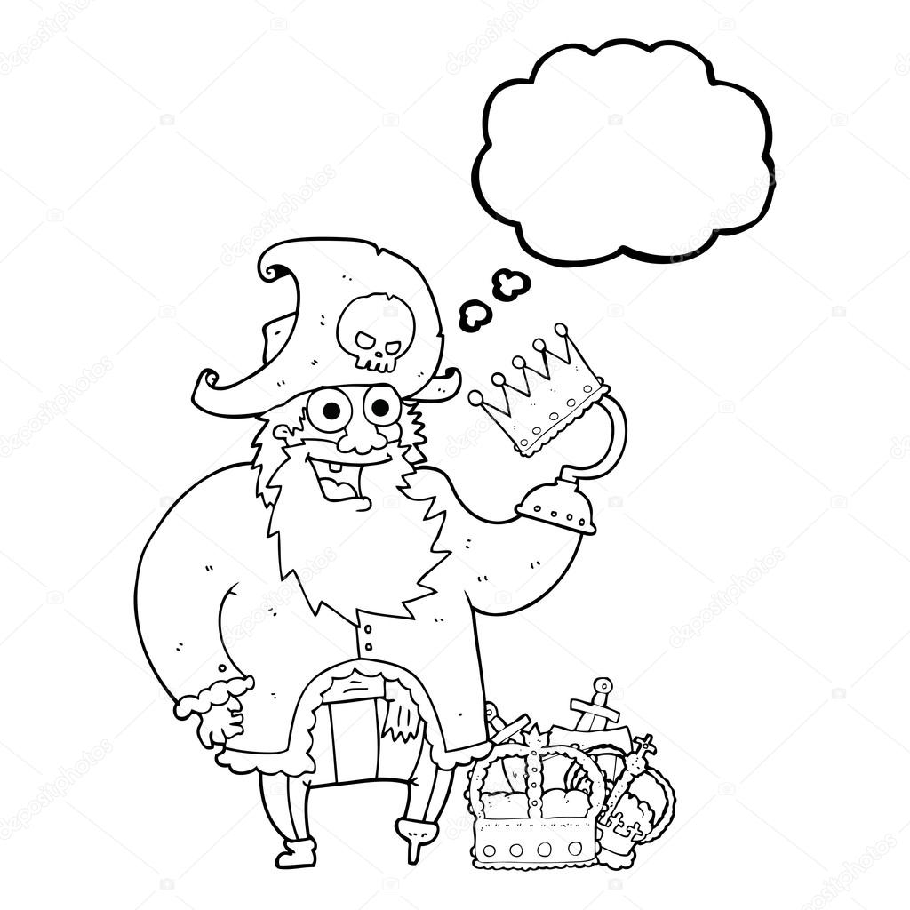 41f10a723a989 thought bubble cartoon pirate captain — Stock Vector ...