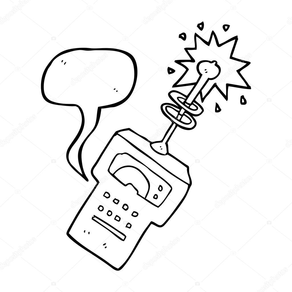 explorador futurista del discurso burbuja cartoon — Archivo Imágenes ...