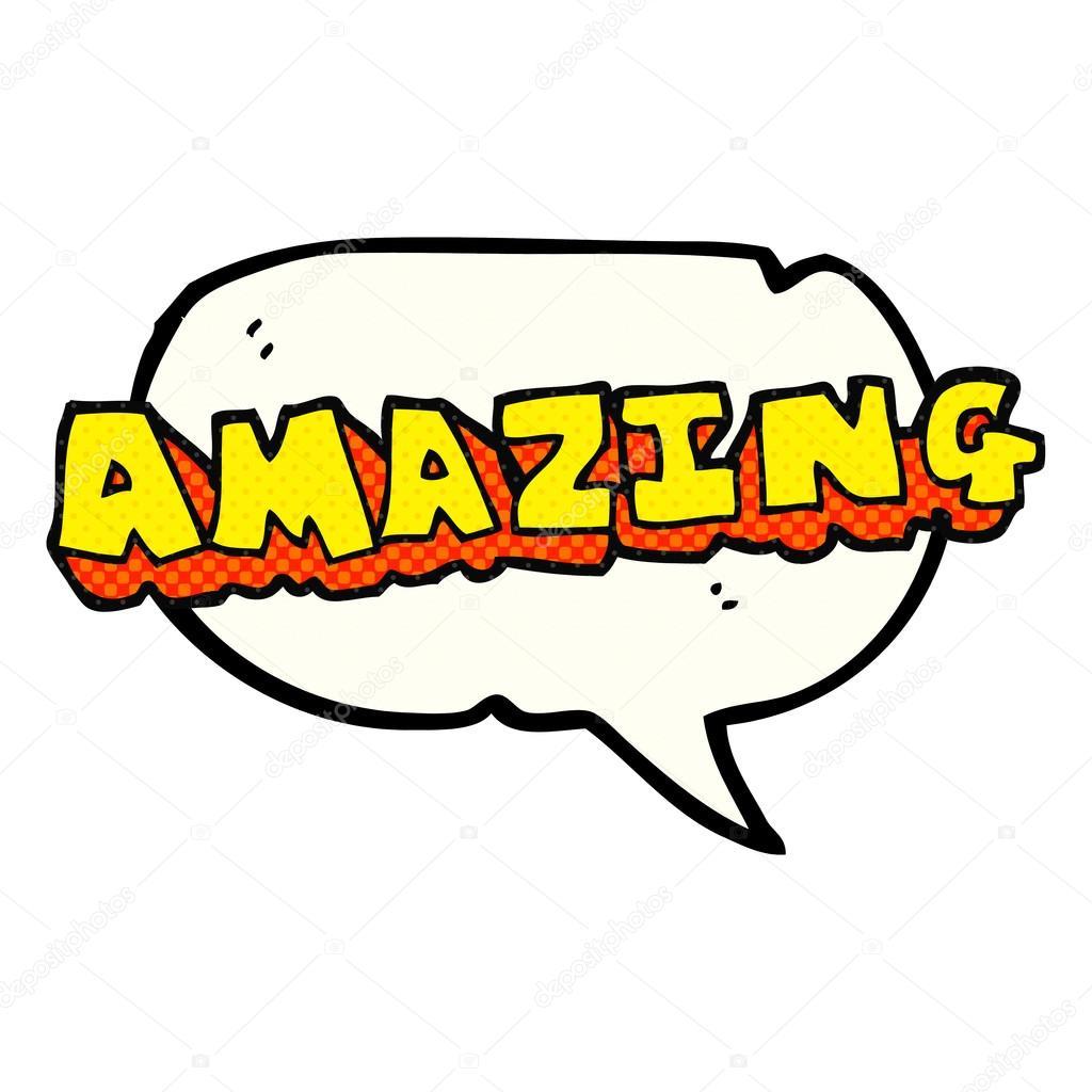 Amazing Cartoon: Comic Book Speech Bubble Cartoon Amazing Word
