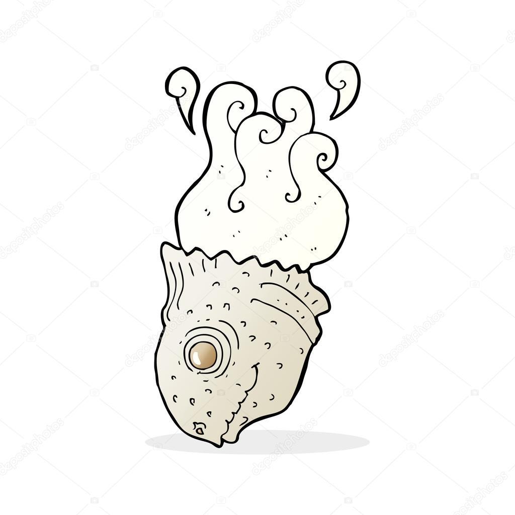 Cartone animato vecchio testa di pesce — vettoriali stock