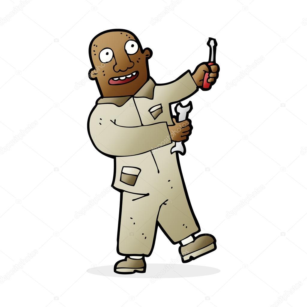 メカニックの漫画イラスト ストックベクター Lineartestpilot 101839616