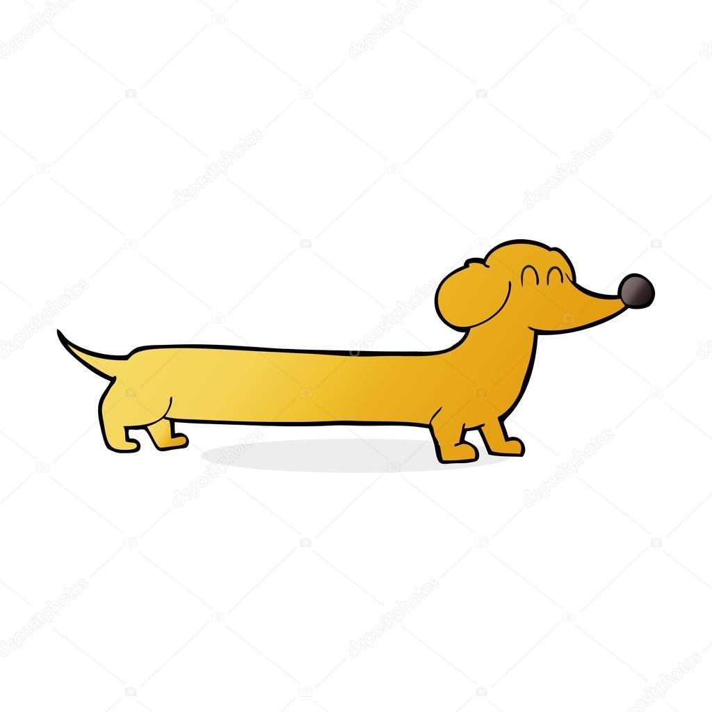 Dibujos: perro salchicha animados Ilustración de dibujos