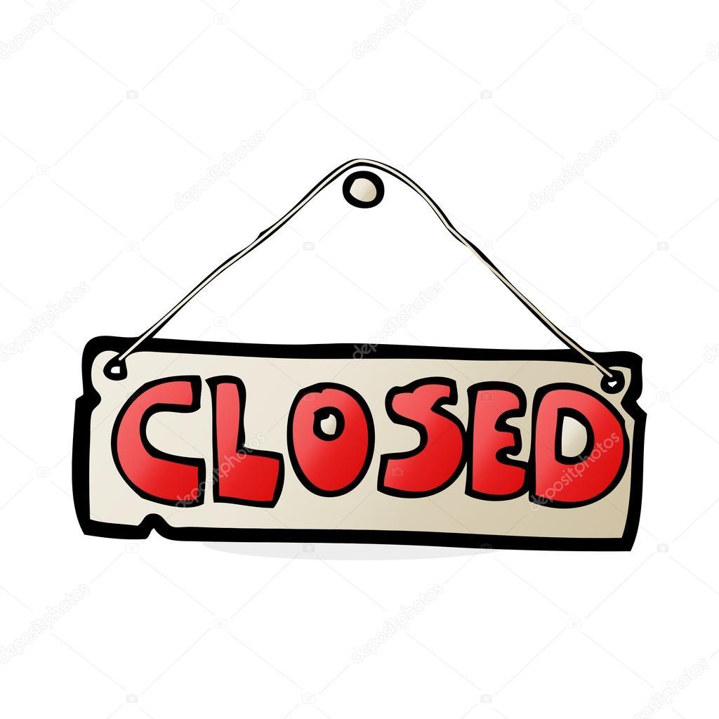 Cartoon Closed Shop Sign Stock Image - Image: 37031441  Cartoon Closed
