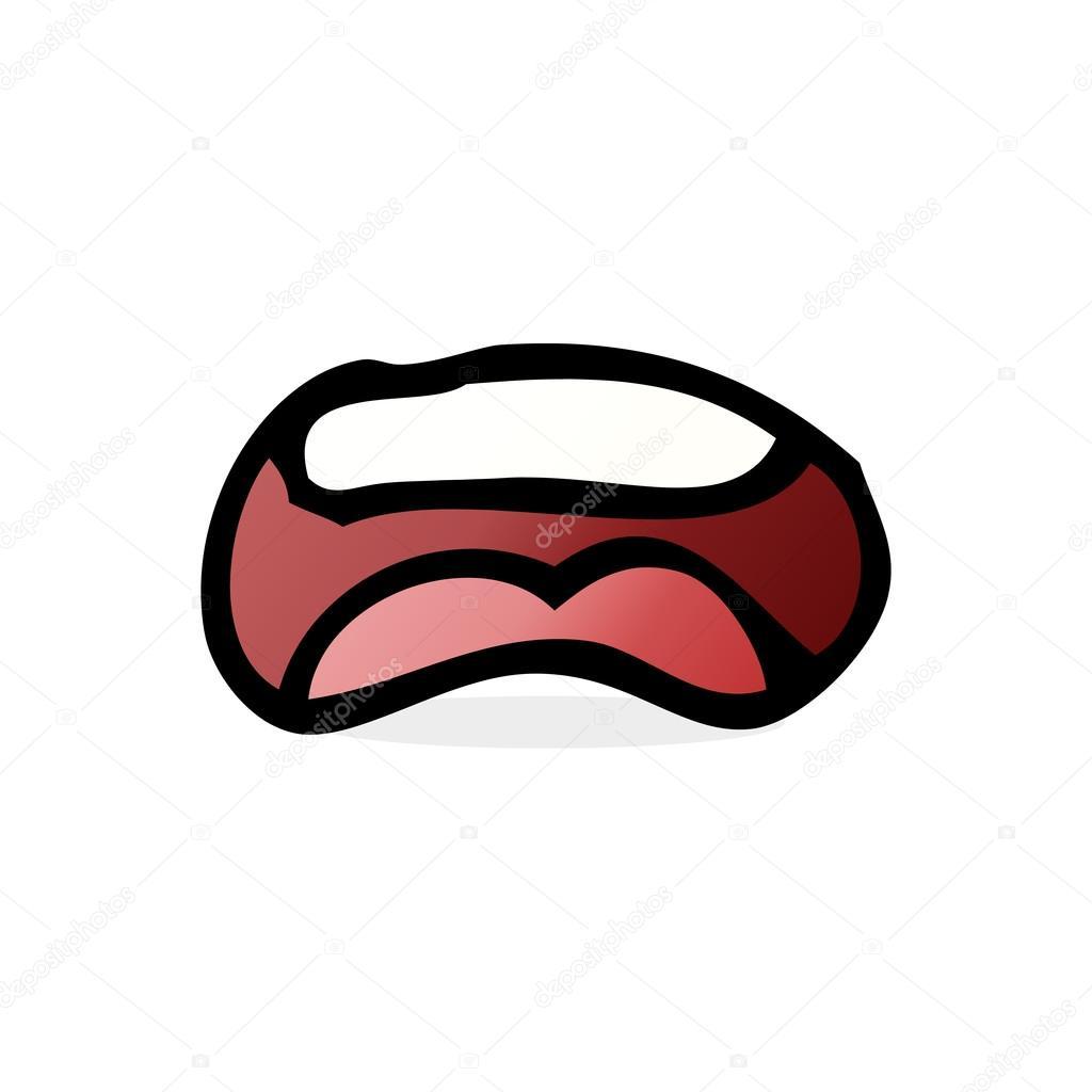 口の中の漫画イラスト ストックベクター Lineartestpilot 101902120