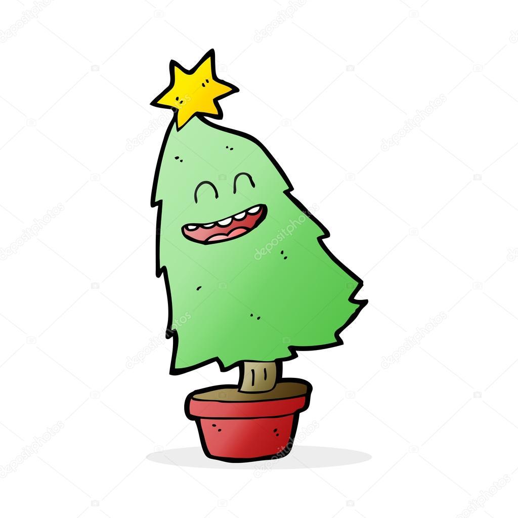 Christmas Dancing Cartoon.Cartoon Dancing Christmas Tree Stock Vector