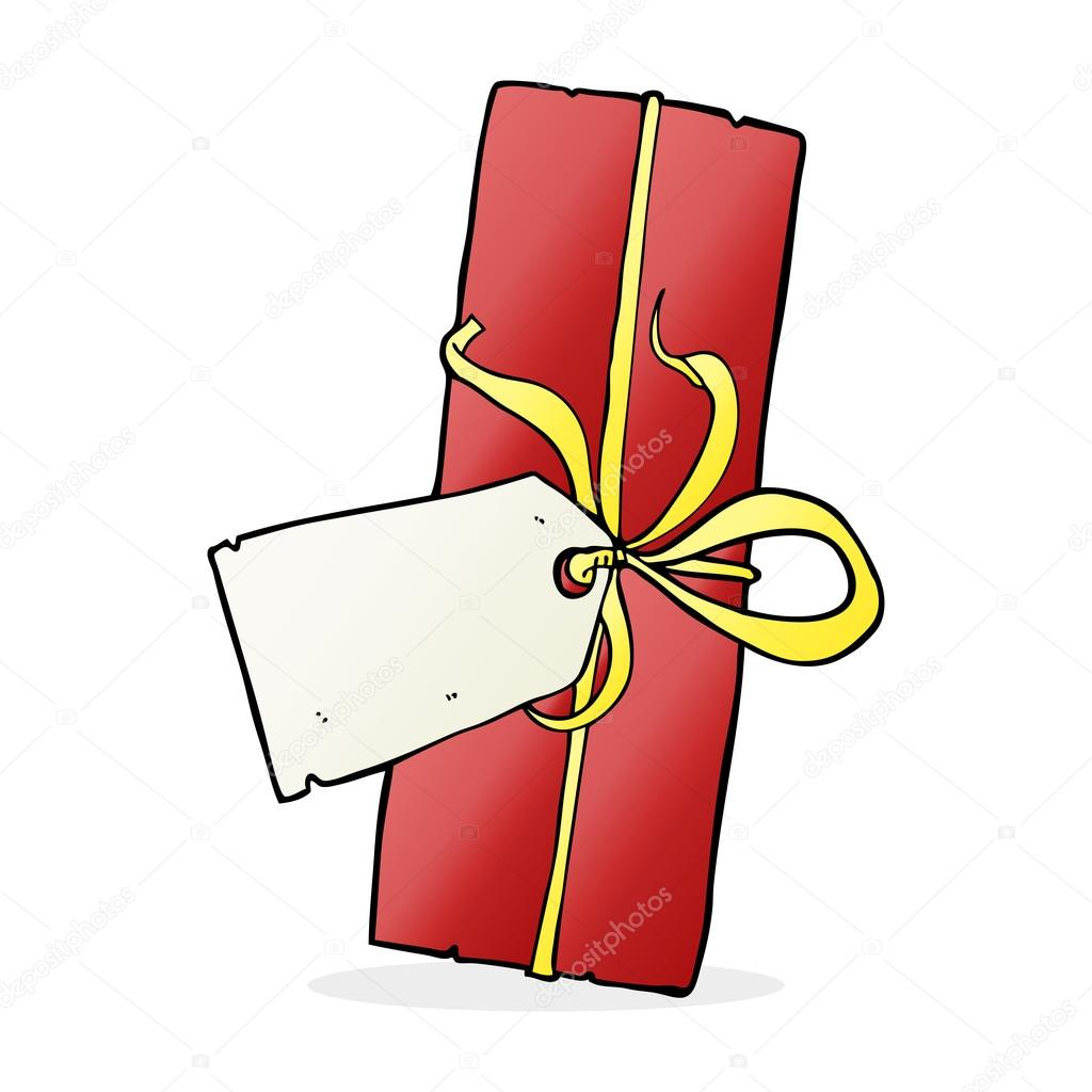 cartoon christmas present — Stock Vector © lineartestpilot #101907246