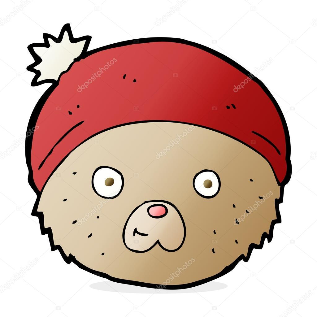 Cartone animato orsetto viso u2014 vettoriali stock © lineartestpilot
