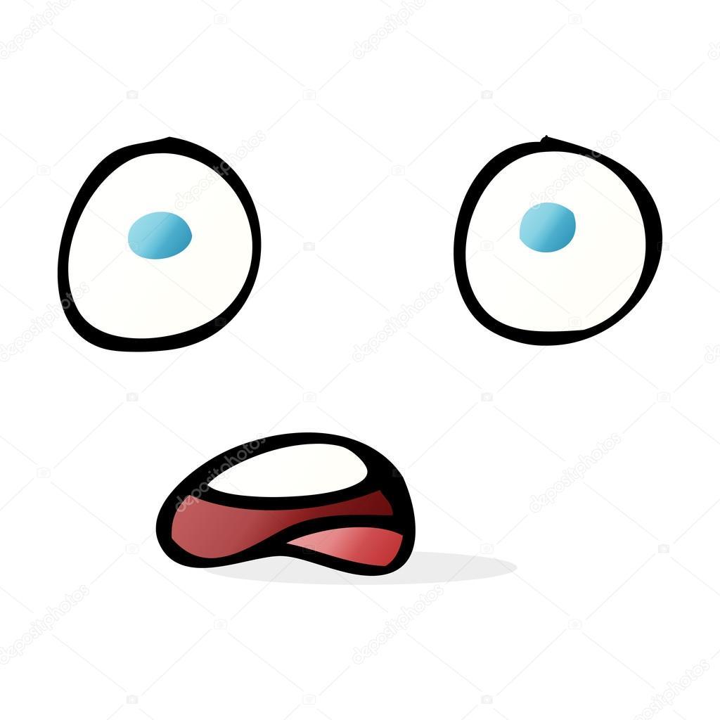 shocked cartoon face stock vector lineartestpilot 101909702 rh depositphotos com shocked face cartoon pic funny shocked cartoon faces