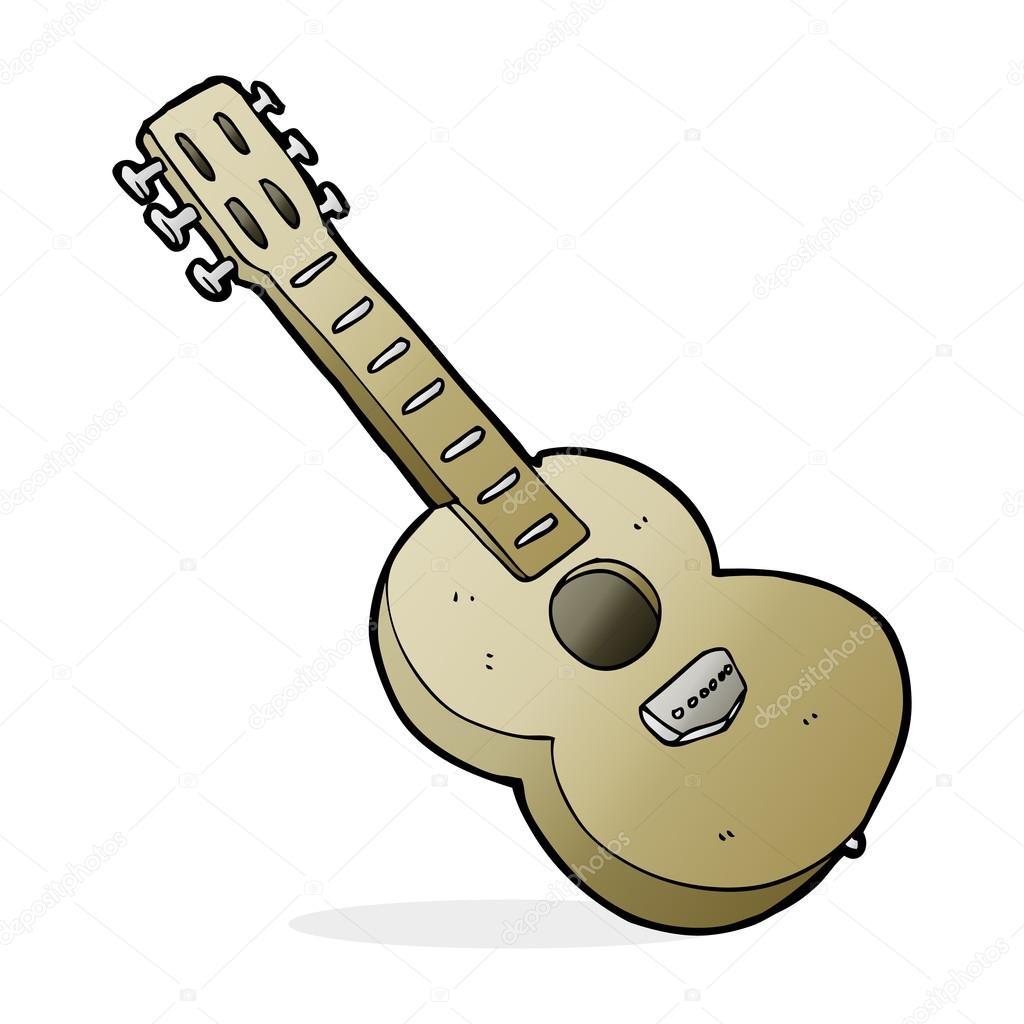 Gitar Karikatür çizimi Stok Vektör Lineartestpilot 101912882
