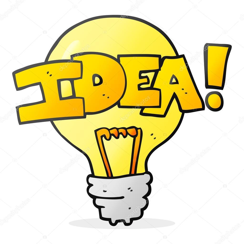 Idea light bulb cartoon pixshark images